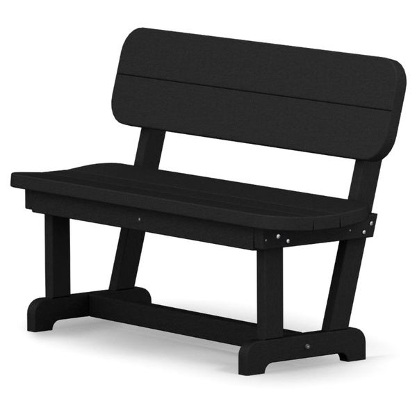 Shop Polywood Park 48 Inch Bench Free Shipping Today