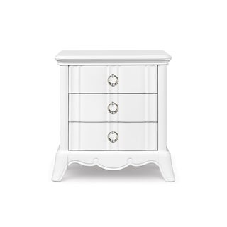 Magnussen Home Furnishings Gabrielle 3-drawer Snow White Wood, MDF Nightstand