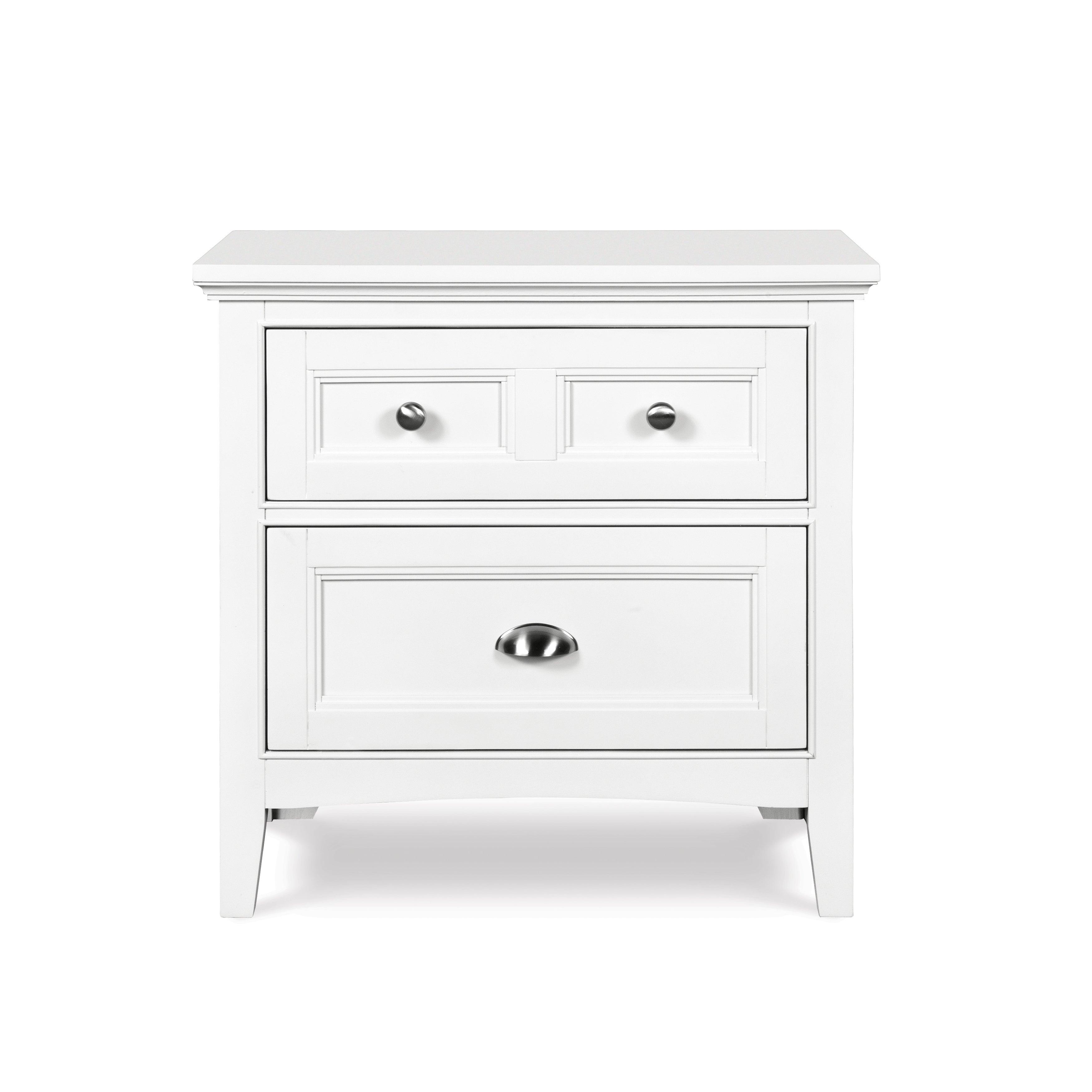 Magnussen Home Furnishings Kenley White 2-drawer Nightstand (Two Drawer Nightstand - White)