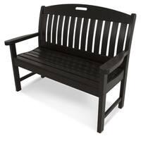 Polywood Black Nautical 48-inch Bench