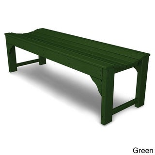 Polywood 60-inch Traditional Backless Garden Bench