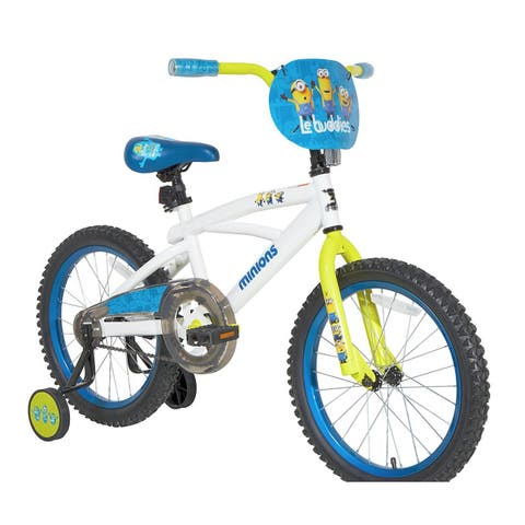 Dynacraft Minions Multicolored Steel 18-inch Bike - White