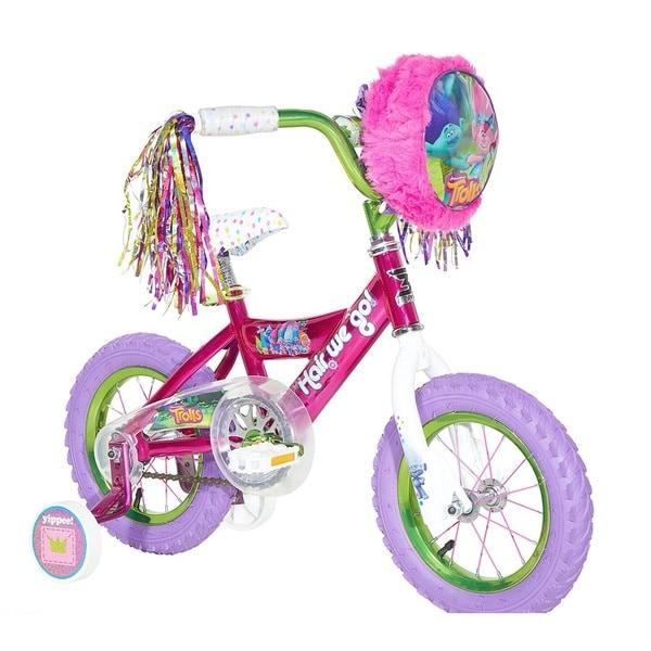 Dynacraft Trolls Pink Steel 12-inch Bike
