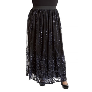 Sealed with a Kiss Women's Plus Size Victoria Maxi Skirt