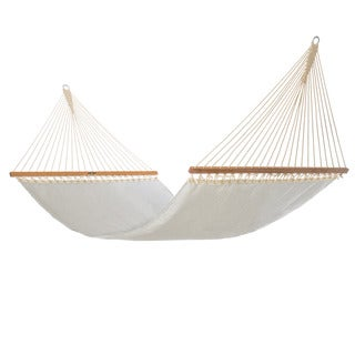 Pawleys Island Hammocks Silver/Off-white Polyester/Acrylic Large Pool Side Hammock