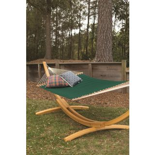 Pawleys Island Hammocks Forest Green Canvas Quilted Fabric Large Hammock