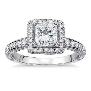 Platinum 2 2/5ct TDW White Diamond Designer Engagement Ring (G-H, SI1-SI2)
