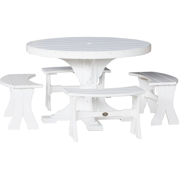 outdoor 4 foot round table and benches free today