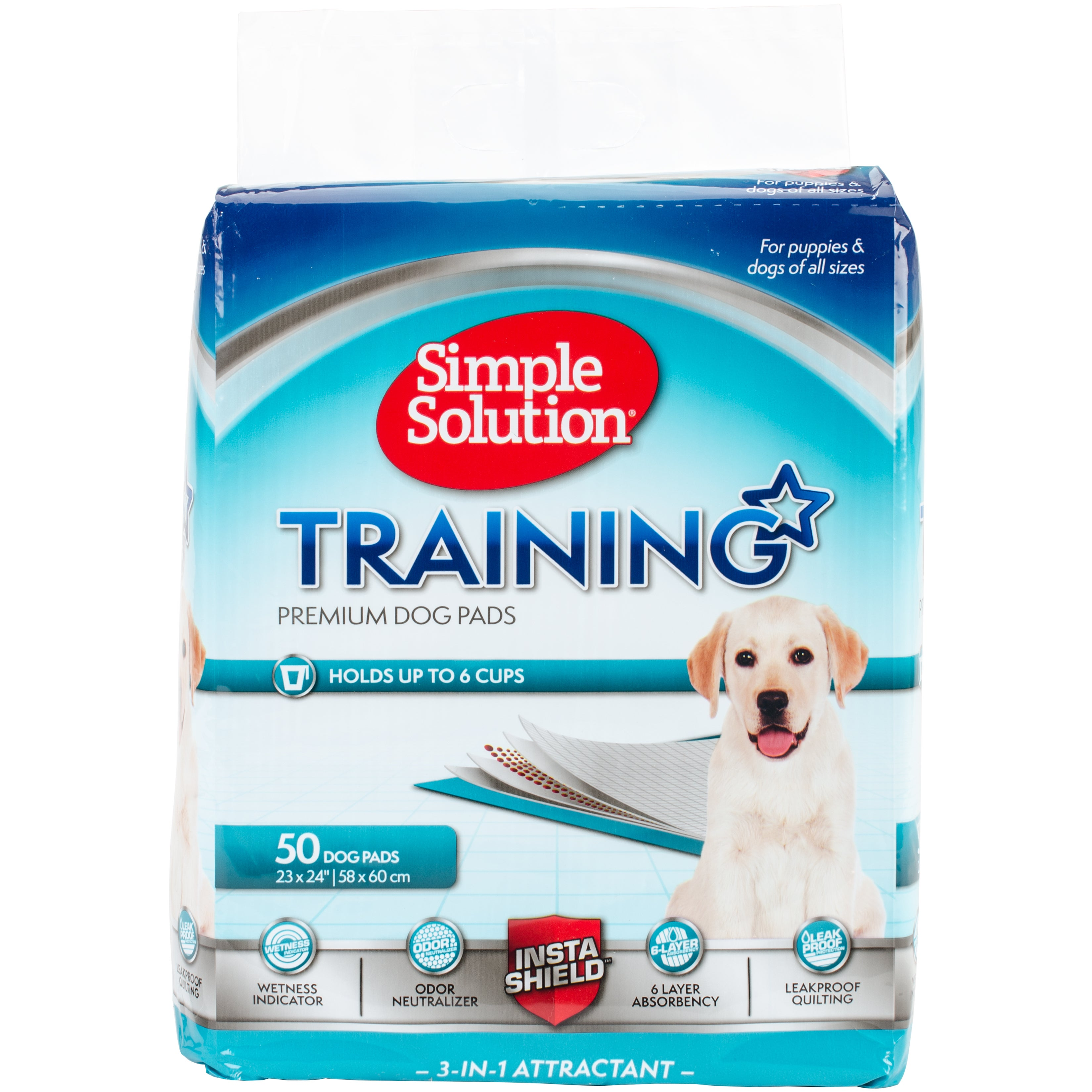 Simple Solution Dog Training Pads (50 count), Grey