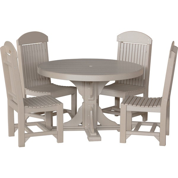outdoor 4 foot round table and chairs free today