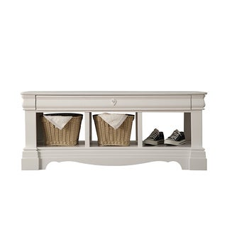 Acme Furniture Estrella White Pine Bench with Storage