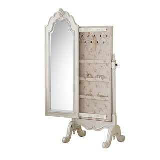 Acme Furniture Edalene Pearl White Wooden Jewelry Armoire