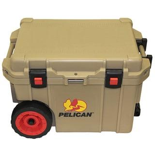 Pelican Elite Tan Polyurethane 45-quart Wheeled Cooler