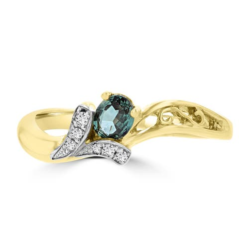 La Vita Vital 18k Yellow Gold Fine Brazilian Alexandrite 1/5ct and Diamond 0.02cts TDW Ring