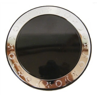 Round 5x Magnification Moon and Star Compact Mirror