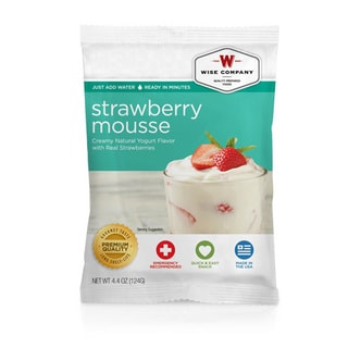 Wise Foods Dessert Dish Strawberry Mousse (Pack of 4)