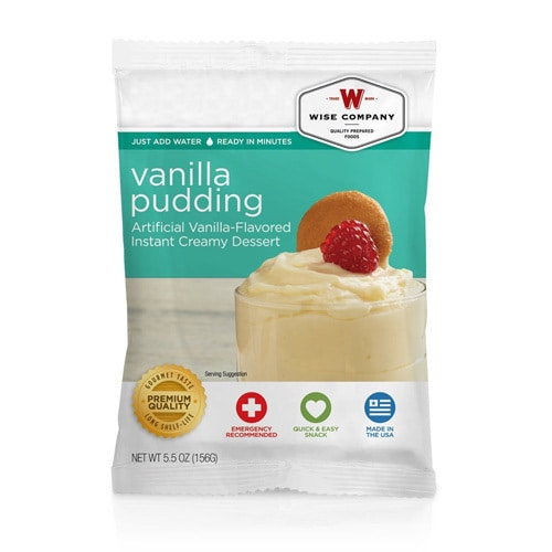 Wise Foods Dessert Dish Vanilla Pudding (4 Servings)