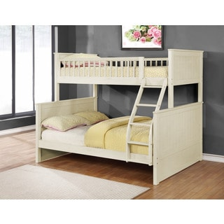 Rajanna Rustic White Twin over Full Bunk Bed