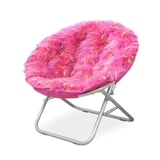 Spiker Pink Faux Fur and Metal Frame Saucer Chair|https://ak1.ostkcdn.com/images/products/13751481/P20407853.jpg?impolicy=medium