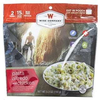 Wise Foods 2-serving Entree Dish Pasta Alfredo with Chicken