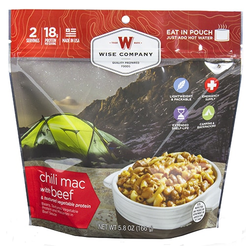 Wise Foods 2-serving Chili Mac With Beef Entree Dish