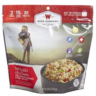 Wise Foods 2-serving Entree Dish Teriyaki Chicken and Rice