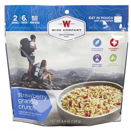Wise Foods 2-serving Dessert Dish Strawberry Granola Crunch