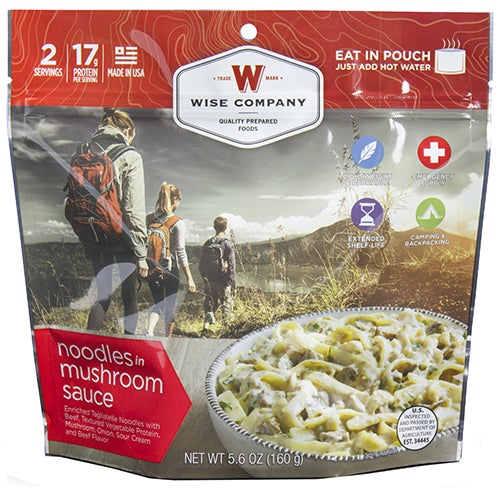 Wise Foods Entree Dish Noodles and Beef with Mushroom Sauce (2 Servings)