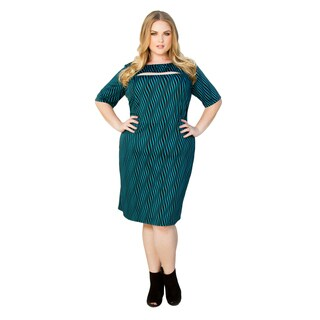 Sealed with a Kiss Women's Plus Size Sandra Cut Out Dress