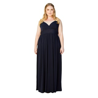 Sealed with a Kiss Women's Plus Size Sabrina Maxi Dress