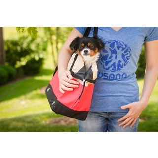 Iconic Pet FurryGo Red and Green Handbag Pet Carrier