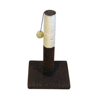 Iconic Pet Kitty Scratch Sisal Cat Scratching Post with Plush Toy