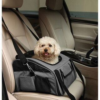 Iconic Pet FurryGo Grey Nylon Luxury Pet Booster Seat