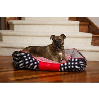 Iconic Pet Freedom Luxury Multicolor Canvas and Polyester Dog/Cat Lounge Bed