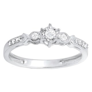 10k Gold 1/5ct TDW Round Diamond 3-stone Bridal Ring (I-J, I2-I3)
