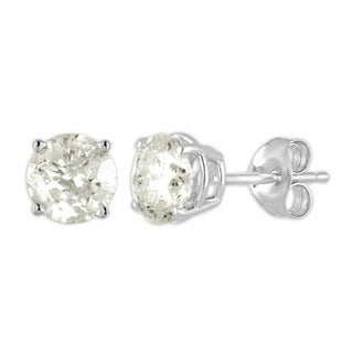 De Couer 10k White Gold 1/4ct TDW Diamond Stud Earrings (I-J, I2-I3)