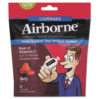 Airborne Immune Support Lozenge, Berry Flavor, 20/Pack, 12 Pack/Carton