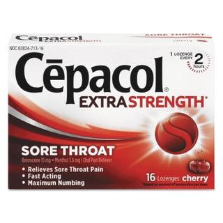 Cepacol Exta Strength Numbing Lozenge, Cherry, 16/Box, 24 Boxes/Carton