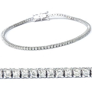 14k White Gold 2 1/2 ct TDW Diamond Tennis Bracelet (I-J,I2-I3)
