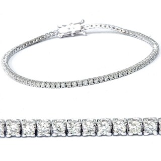 14k White Gold 2 1/2 ct TDW Diamond Tennis Bracelet