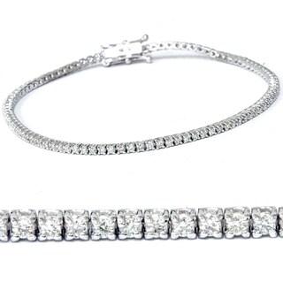 14k White Gold 2 ct TDW Diamond Tennis Bracelet