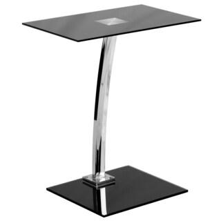 Bellas Black Silk Tempered-glass Top Laptop Computer Desk
