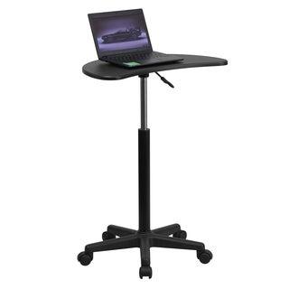 Ashe Black Metal Mobile Height-adjustable Laptop Desk/Lectern