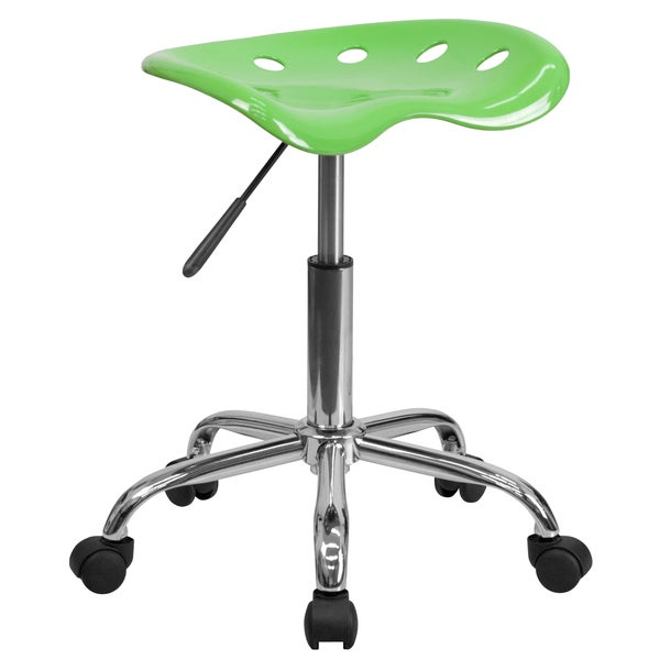 Eller Apple Green Tractor Seat Stool with Chrome Base
