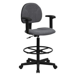 Grey Fabric Office Drafting Chair
