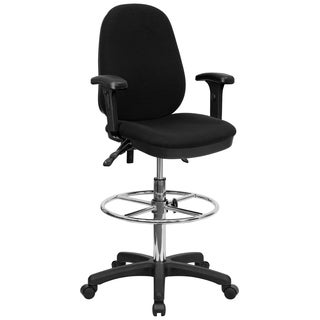 Black Fabric Multifunctional Office Drafting Chair