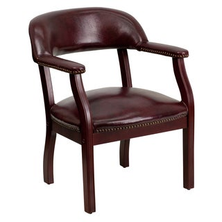 Oxblood Leatherette Nail-head Trim Executive/Office/Visitor Chair