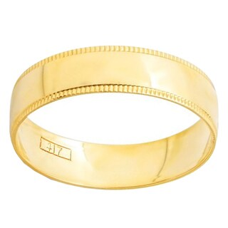 10k Yellow Gold Men's 4mm Dome Wedding Band