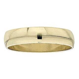 14k Yellow Gold Men's 6mm Domed Ring