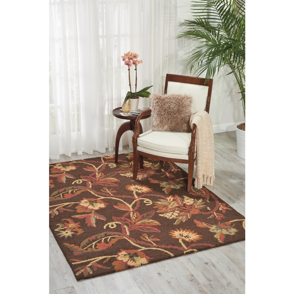 Shop Nourison Crochet Chocolate Area Rug 5 X 7 On